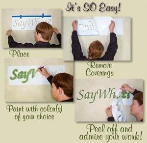 Stencils for Lettering Quotes, Sayings and Words and Decorative Designs